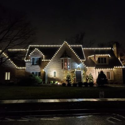 christmas lights on home Land Visions Lansing Michigan