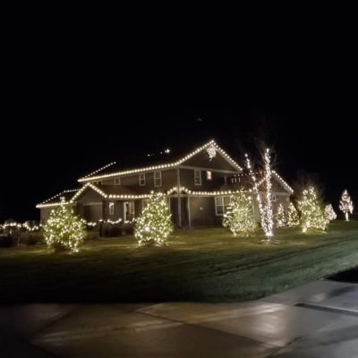 Holiday decorations Land Visions Lansing Michigan