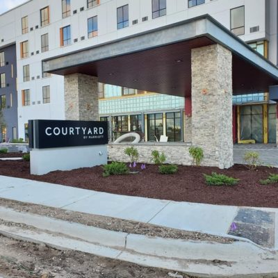 Courtyard by Marriott landscaping Land Visions Lansing Michigan