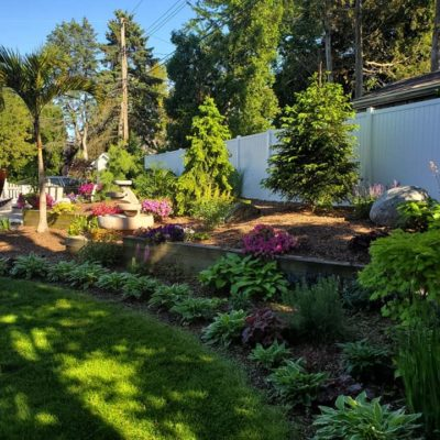 Backyard Landscaping Land Visions Lansing Michigan