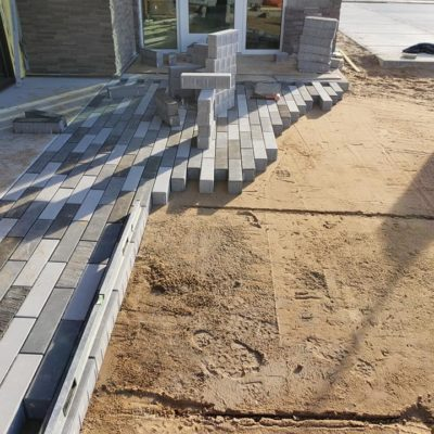 Outdoor brick flooring Land Visions Lansing Michigan