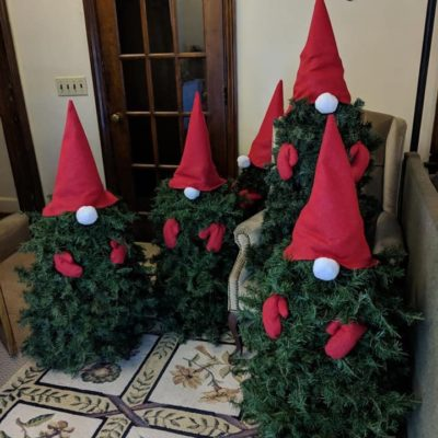 Land Visions Lansing Michigan Christmas trees dressed up as elves